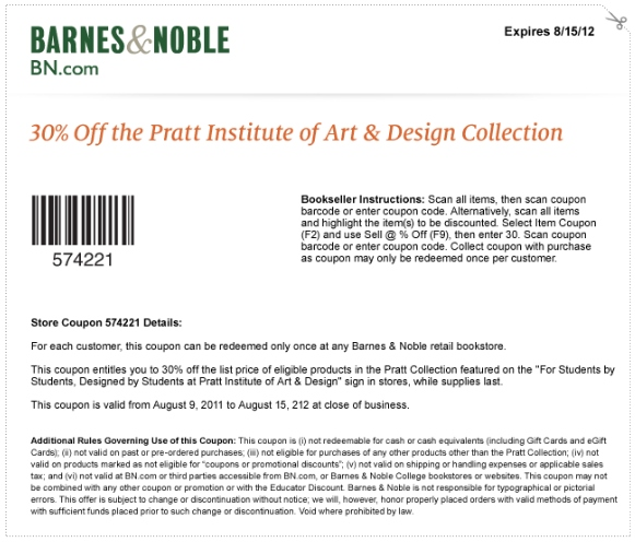 Barnes and noble coupons printable august 2018