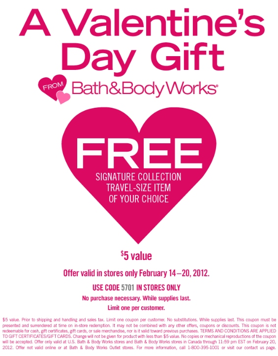 Bath & Body Works Printable Coupon