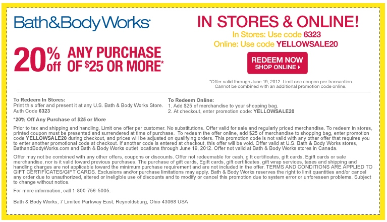 Printable coupons bath and body works june 2018