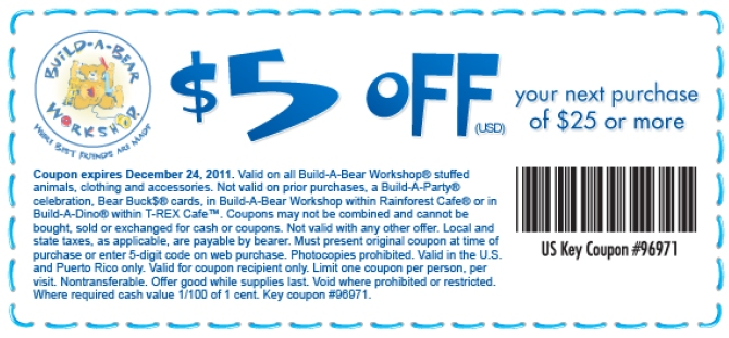 Build A Bear Coupon  Printable
