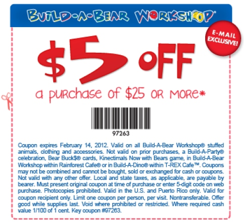 photograph about Build a Bear Printable Coupons named Produce A Go through Workshop Printable Coupon