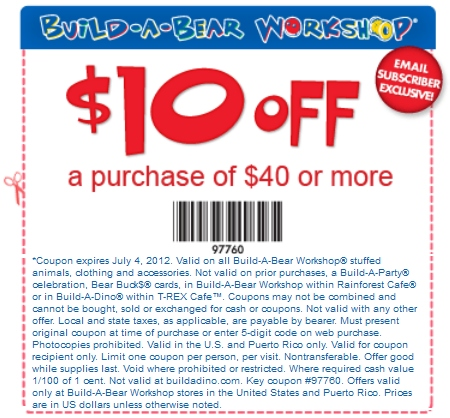 Build A Bear Coupon | 2017 - 2018 Best Car Reviews