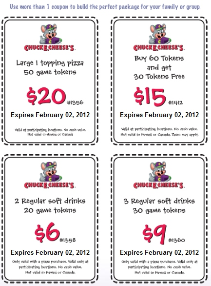Coupons chuck e cheese pizza