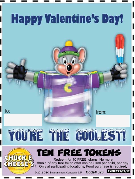 Details: Chuck E Cheese's is proud to salute the men and women of our armed forces and their quicheckdimu.gq from 2 great offers: The Alpha Get a Large 1-topping pizza, 4 drinks & 45 tokens for $ ($40 value).The Bravo Get 2 Large 1-topping pizzas, 4 drinks & tokens for $ ($69 value) Just ask about their Military offers and show your Common Access Card or Uniformed Services ID.
