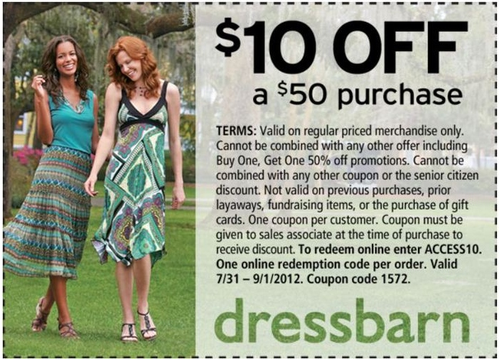 picture regarding Dress Barn Coupons Printable referred to as DressBarn Printable Coupon - Expires September 1, 2012