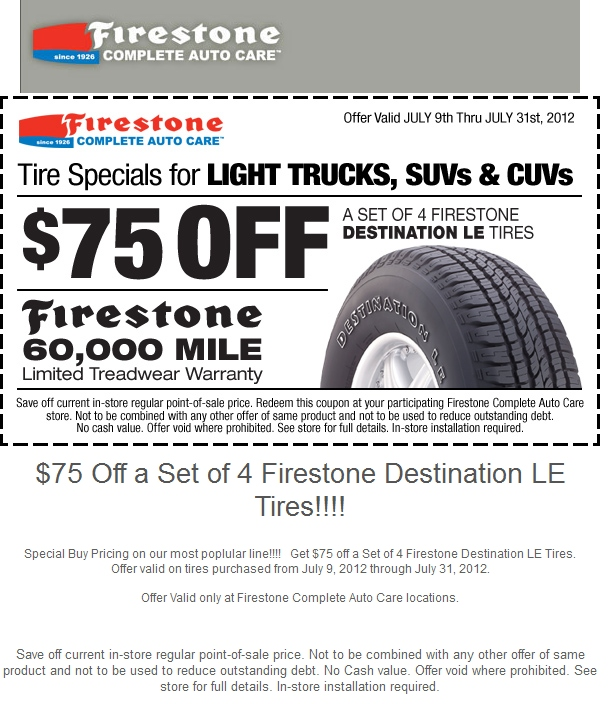 Firestone Coupon Codes 2014 Promo Codes Deals And | Autos Post
