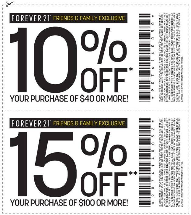 photograph about Forever 21 Printable Application titled Endlessly 21 Printable Coupon