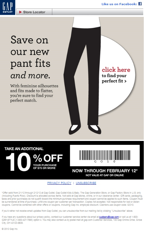 photograph about Gap Outlet Printable Coupon named Hole Outlet Printable Coupon