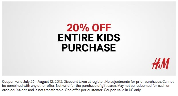 H and m discount coupon