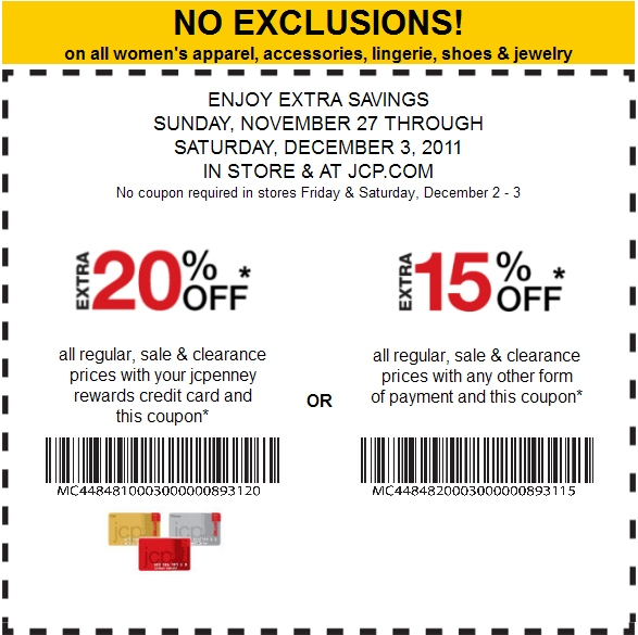 Jcpenny discount coupons