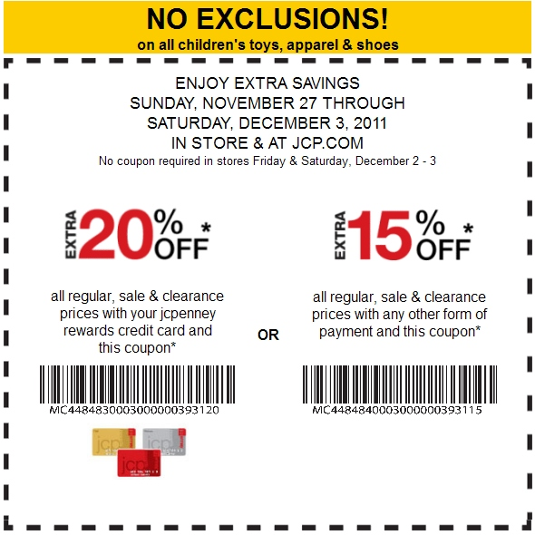 Jcpenney coupon codes november 2018