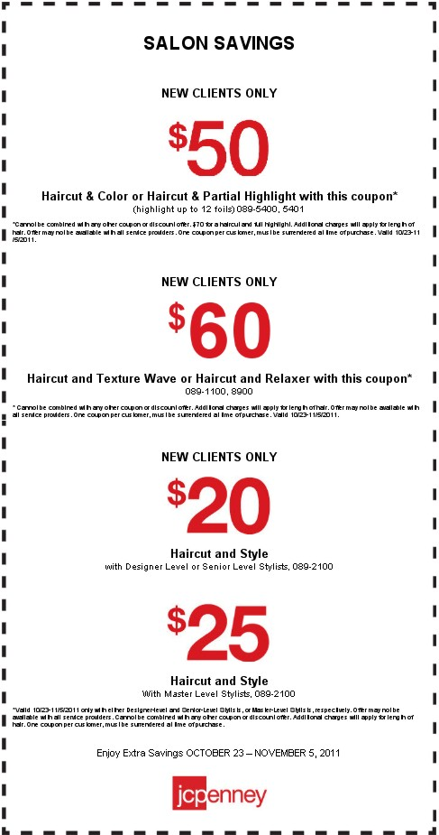 JC Penney Salon Printable Coupon