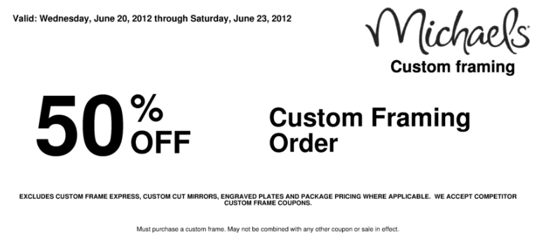 Michaels custom invitation coupons