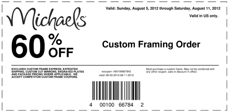 check out our 540 stores that offer crafts coupons and deals more michaels coupons exclusions may apply - Michaels Coupons For Framing