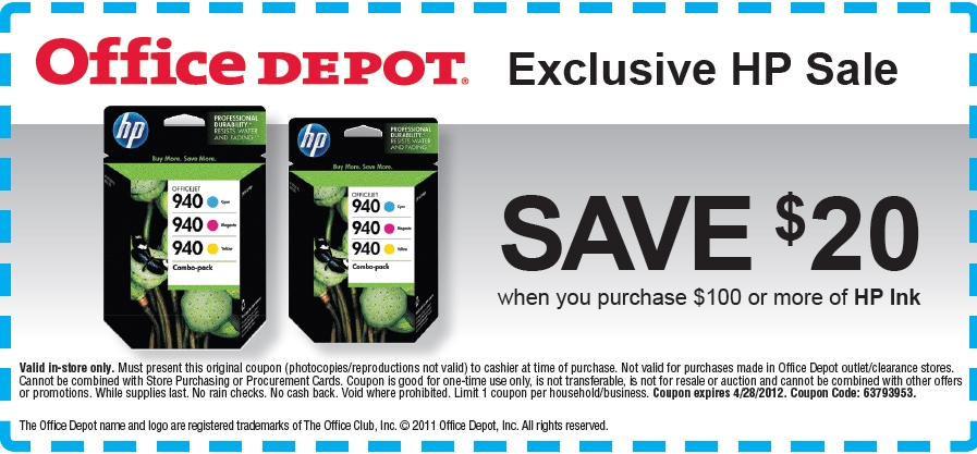 Hp ink coupons printable