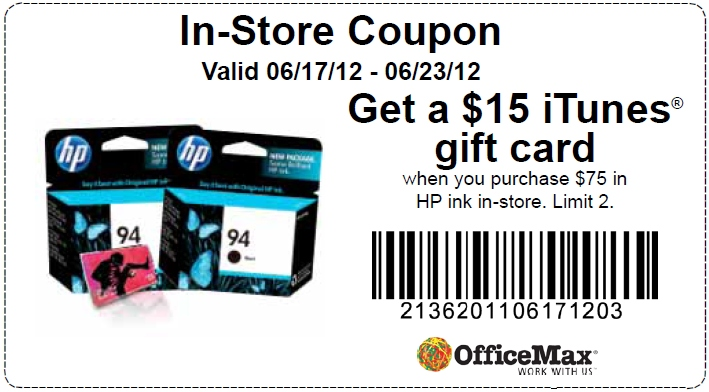 OfficeMax Printable Coupons 2014