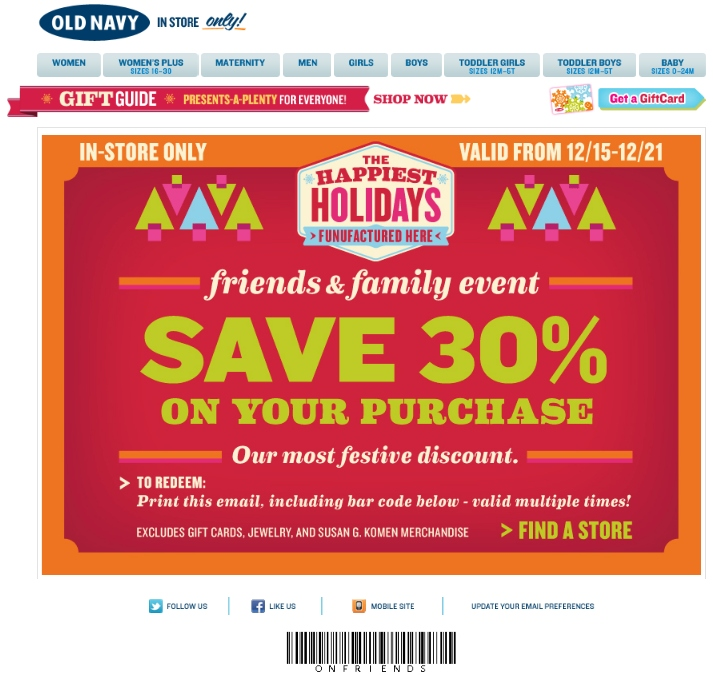 Old navy online coupon code may 2018