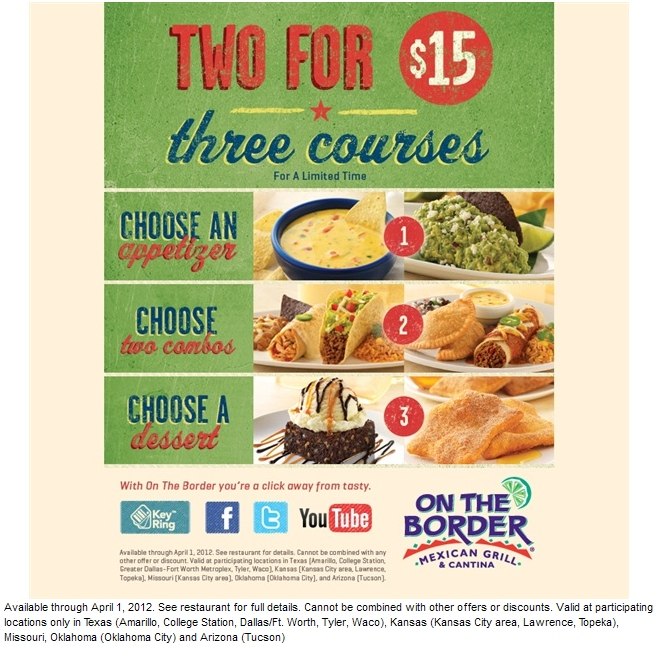 On The Border Printable Coupon