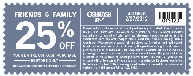 photo relating to Oshkosh Printable Coupon identified as OshKosh Bgosh Printable Coupon