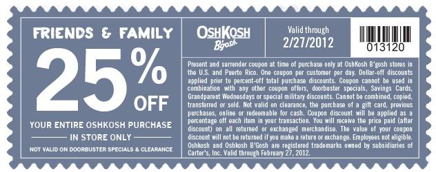 image relating to Oshkosh Printable Coupon identify OshKosh Bgosh Printable Coupon