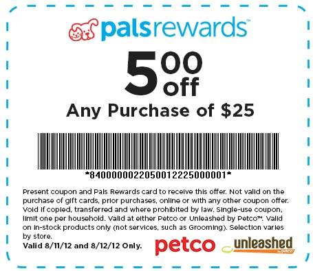 Petco Printable Coupon - Expires August 12, 2012