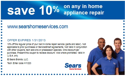 You're in the right place. Sears Home Services offers expert appliance in-home repair you can count on. You can also rely on us for promotional offers to repair your major appliances, including dishwashers, washers, dryers, ovens, and more. Have a look around to find our best offers and when you're ready, book a repair appointment.