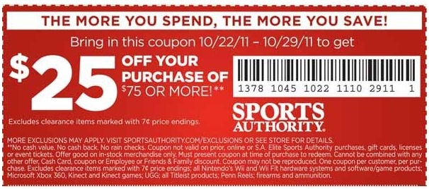Sports authority coupon code november 2018