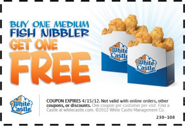 White castle coupon codes