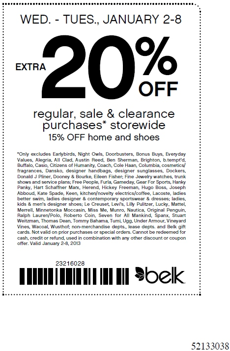 Belk.com coupon code