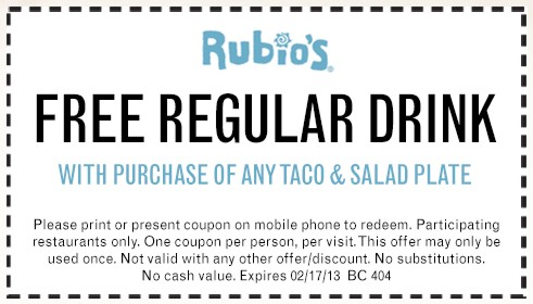Rubio's coupons november 2018