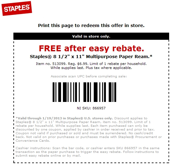 Staples coupons in store printable 2018