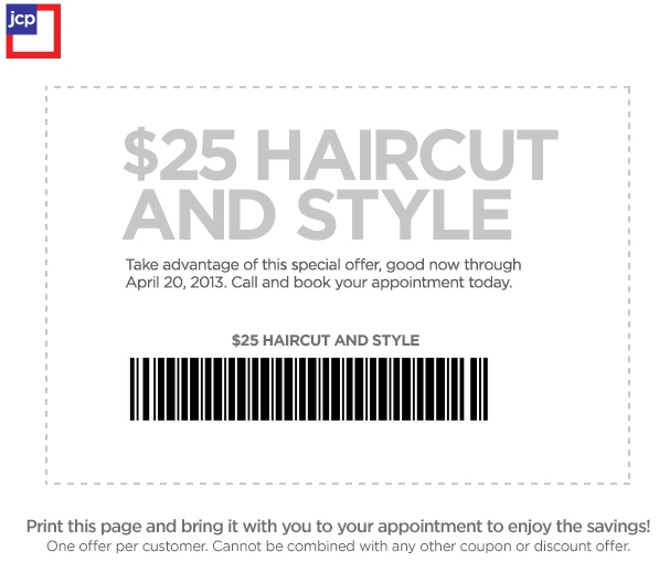 JCPenney Salon Printable Coupon